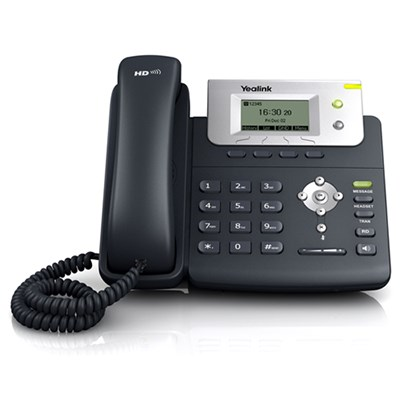 Yealink T21P VoIP/SIP Desktop Phone (SIP-T21P), 2-Lines, PoE, Greyscale LCD Display Without PSU